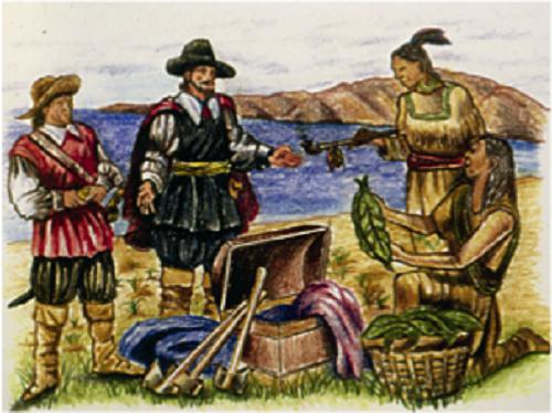哥伦布发现烟草